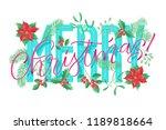 vector holidays lettering.... | Shutterstock .eps vector #1189818664