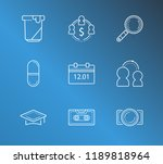 pack icon set and pill with...