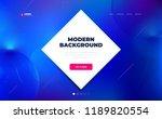 liquid color background design. ... | Shutterstock .eps vector #1189820554