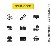 support icons set with...