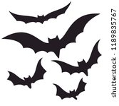 bats collection isolated on... | Shutterstock .eps vector #1189835767