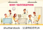 kids vaccination poster... | Shutterstock .eps vector #1189835914