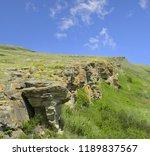 head smashed in buffalo jump  ...   Shutterstock . vector #1189837567