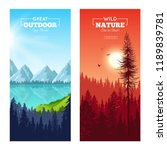set of vertical banners with... | Shutterstock .eps vector #1189839781