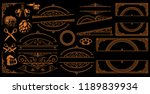 set of vintage borders and... | Shutterstock .eps vector #1189839934
