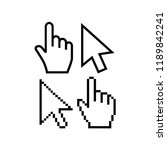 mouse cursor vector icons. hand ... | Shutterstock .eps vector #1189842241