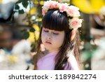 very beautiful elf girl.... | Shutterstock . vector #1189842274