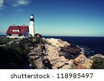 portland head lighthouse... | Shutterstock . vector #118985497