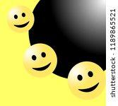 smile face background or... | Shutterstock .eps vector #1189865521