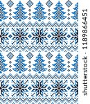 new year's christmas pattern... | Shutterstock .eps vector #1189866451