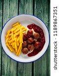 swedish meatballs with... | Shutterstock . vector #1189867351