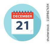 december 21   calendar icon  ... | Shutterstock .eps vector #1189867654