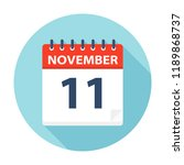 november 11   calendar icon  ... | Shutterstock .eps vector #1189868737