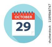 october 29   calendar icon  ... | Shutterstock .eps vector #1189868767
