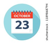 october 23   calendar icon  ... | Shutterstock .eps vector #1189868794