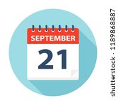 september 21   calendar icon  ... | Shutterstock .eps vector #1189868887