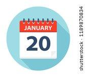 january 20   calendar icon  ... | Shutterstock .eps vector #1189870834