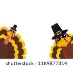 turkey pilgrimin on... | Shutterstock .eps vector #1189877314
