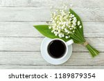 still life with a cup of coffee ... | Shutterstock . vector #1189879354