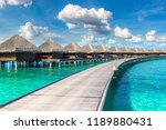 water villas  bungalows  and... | Shutterstock . vector #1189880431