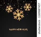 happy new year greeting card. | Shutterstock .eps vector #1189887457