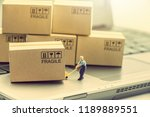 supply chain   logistic... | Shutterstock . vector #1189889551
