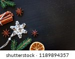 christmas new year composition... | Shutterstock . vector #1189894357