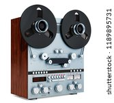 retro reel to reel tape... | Shutterstock . vector #1189895731
