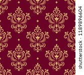 seamless golden ornamental... | Shutterstock . vector #1189896604