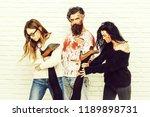 halloween zombie people of... | Shutterstock . vector #1189898731