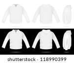 plain training hooded... | Shutterstock .eps vector #118990399