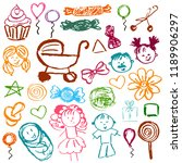 set elements for your... | Shutterstock .eps vector #1189906297
