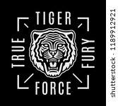 roaring tiger poster. modern...   Shutterstock .eps vector #1189912921