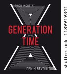 slogan generation time on... | Shutterstock .eps vector #1189919341