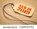 new in 2019 sign   a paper... | Shutterstock . vector #1189919791