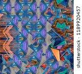 abstract pattern. gouache... | Shutterstock . vector #1189920457