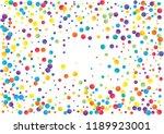 festive color round confetti... | Shutterstock .eps vector #1189923001