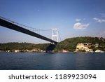 view of fsm bridge  bosphorus...   Shutterstock . vector #1189923094