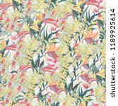 tropical pictorial pattern. oil ... | Shutterstock . vector #1189925614