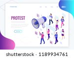 isometric crowd of people... | Shutterstock .eps vector #1189934761
