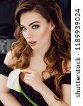 portrait of beautiful young... | Shutterstock . vector #1189939024
