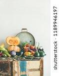 fall vegetarian food ingredient ... | Shutterstock . vector #1189946197