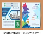 cover template a4 size....   Shutterstock .eps vector #1189946494