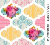 seamless pattern with... | Shutterstock .eps vector #1189947217