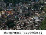 countless houses in the rocinha ...   Shutterstock . vector #1189950661