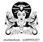 vector hand drawn illustration...   Shutterstock .eps vector #1189955257