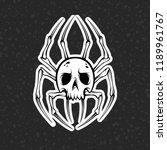 spider skull. vector...   Shutterstock .eps vector #1189961767