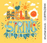 hello spring concept with... | Shutterstock .eps vector #1189962844