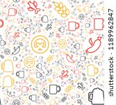 oktoberfest seamless pattern.... | Shutterstock .eps vector #1189962847
