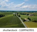 amish farms dot the landscape... | Shutterstock . vector #1189963501